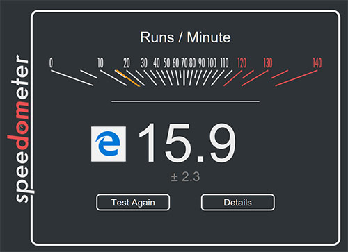 Internet Edge Browser result