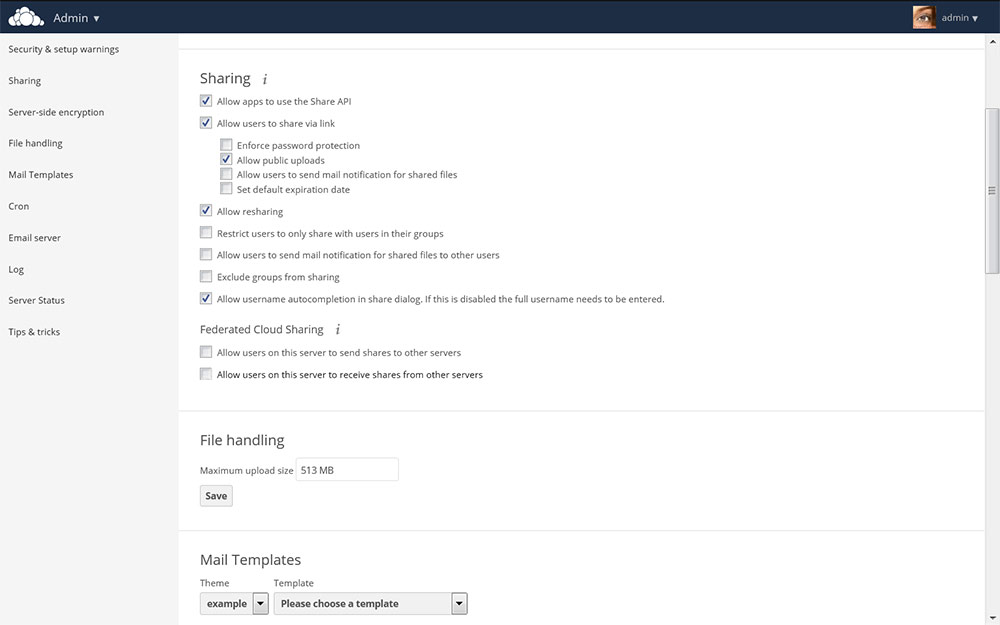 Administrator Set up Page
