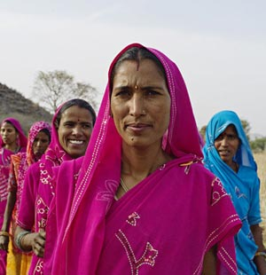 Women who received gender equity training in Rajasthan