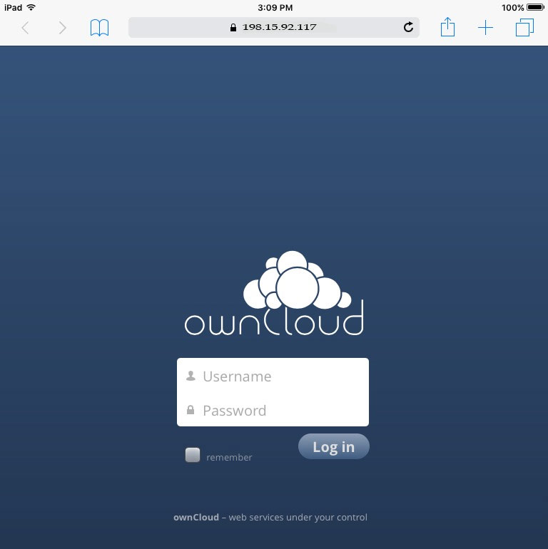 Apple iPad connecting to OwnCloud