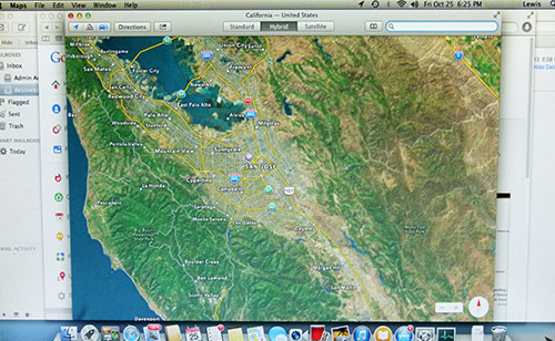 Map app in Mavericks