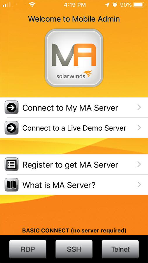 Mobile Admin SSH app