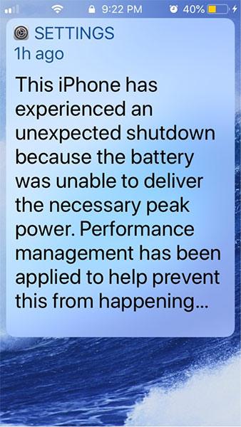 App Shut down